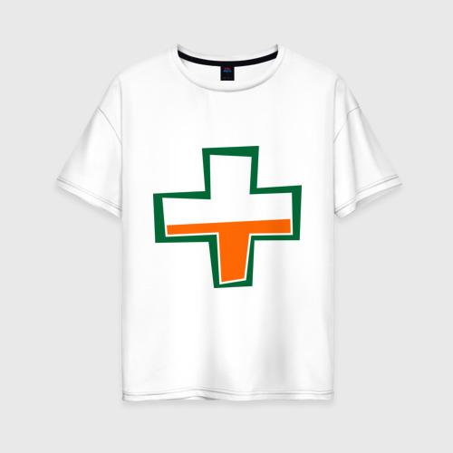 Женская футболка хлопок Oversize TF2 Health