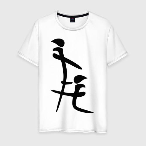 Мужская футболка хлопок иероглиф blow job