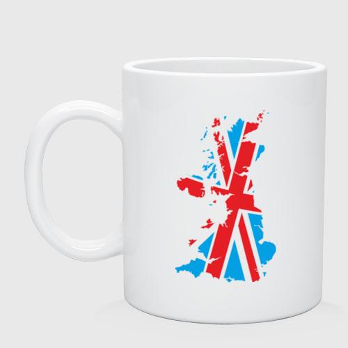 Кружка керамическая карта британии