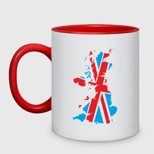 Кружка двухцветная карта британии