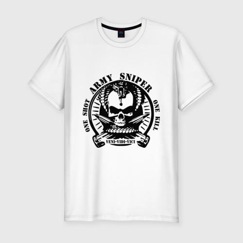 Мужская футболка хлопок Slim Армейский снайпер