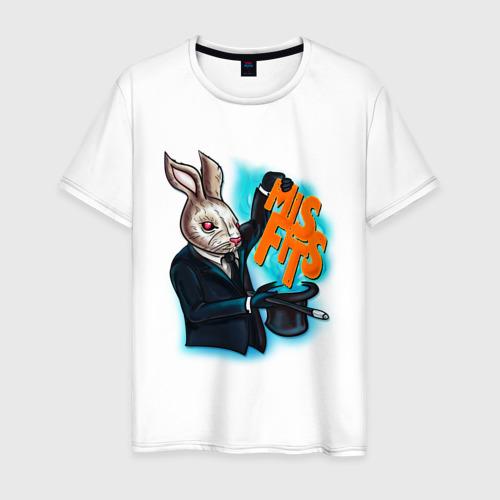 Мужская футболка хлопок Кролик-психопат