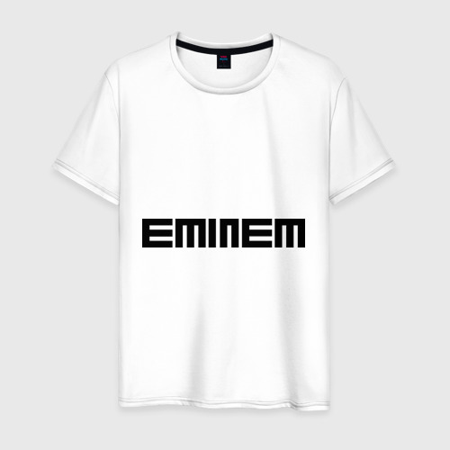 Мужская футболка хлопок Eminem black logo