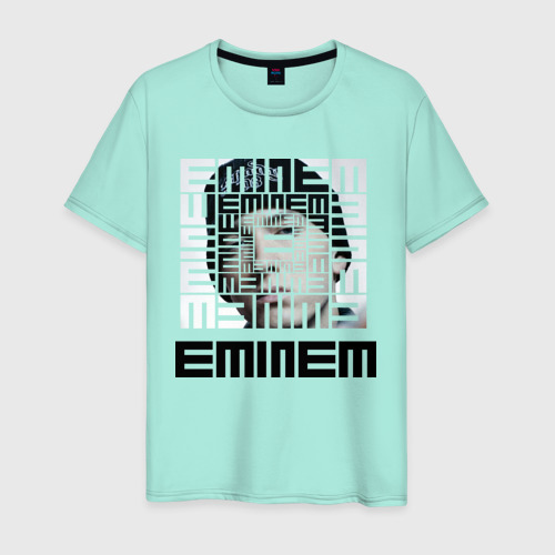 Мужская футболка хлопок Eminem grey