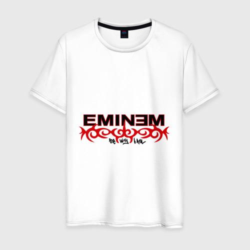 Мужская футболка хлопок Eminem узор