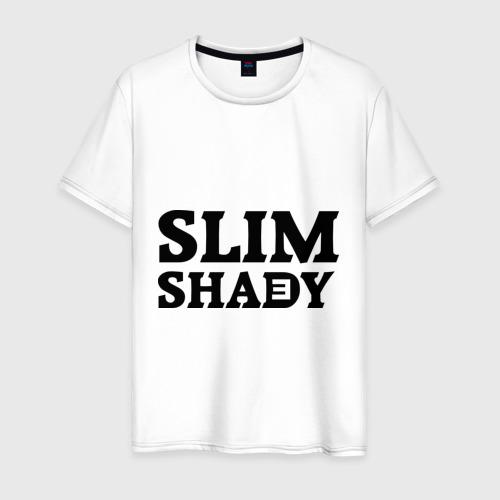 Мужская футболка хлопок Slim shady. E