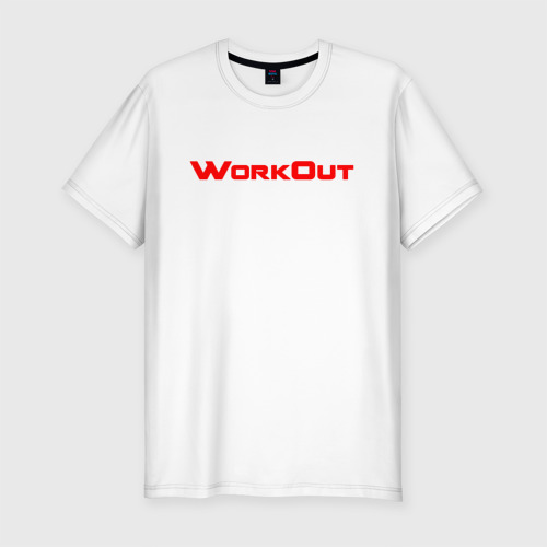 Мужская футболка хлопок Slim Фитнес городских улиц