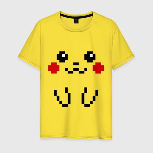 Мужская футболка хлопок Bit Pikachu