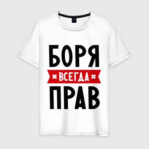 Мужская футболка хлопок Боря всегда прав