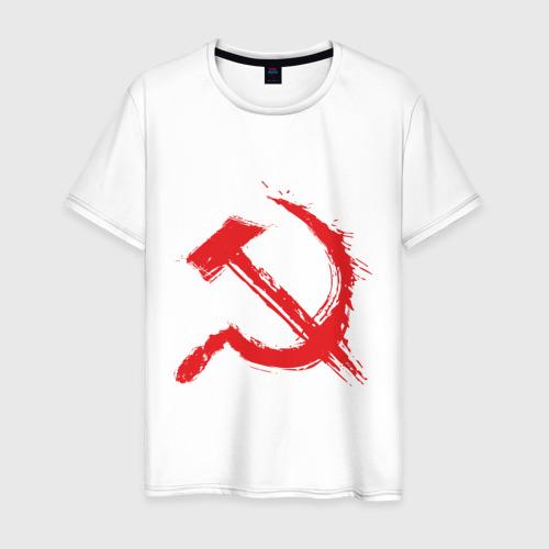 Мужская футболка хлопок Cерп и молот.