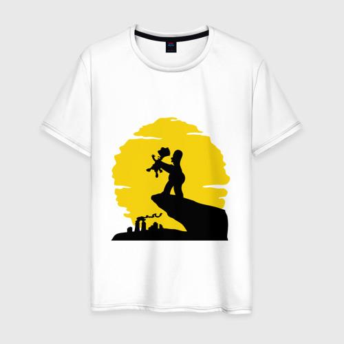 Мужская футболка хлопок Homer & Bart
