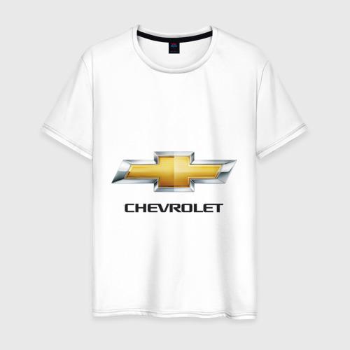 Мужская футболка хлопок Chevrolet логотип
