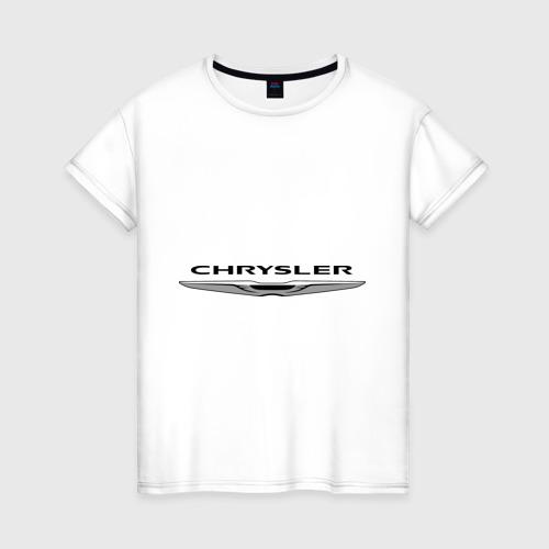 Женская футболка хлопок Chrysler лого