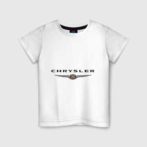 Детская футболка хлопок Chrysler logo