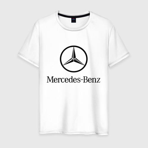 Мужская футболка хлопок Logo Mercedes-Benz