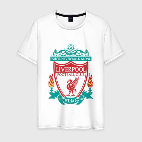 Мужская футболка хлопок Liverpool logo