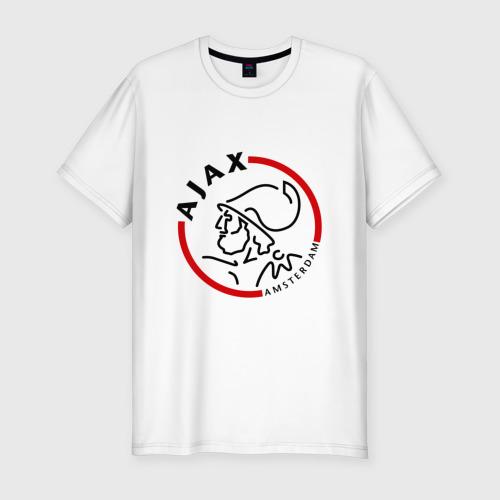 Мужская футболка хлопок Slim ФК Аякс