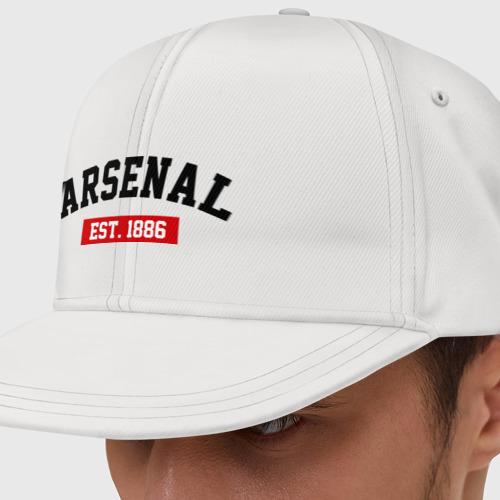 Кепка снепбек с прямым козырьком FC Arsenal Est. 1886