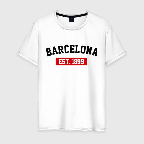 Мужская футболка хлопок FC Barcelona Est. 1899