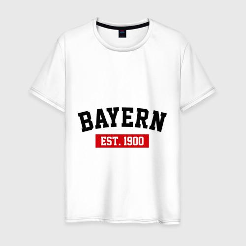Мужская футболка хлопок FC Bayern Est. 1900
