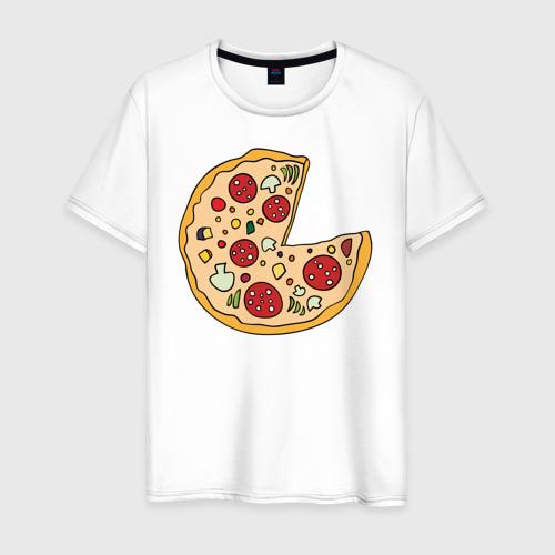Мужская футболка хлопок Пицца парная