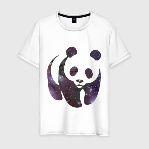 Мужская футболка хлопок Panda space