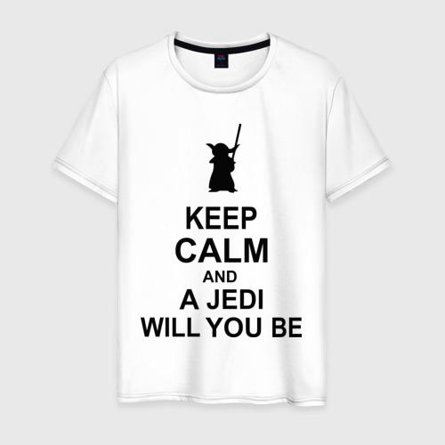Мужская футболка хлопок Keep calm and a jedi will you be