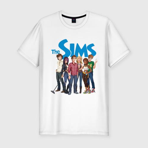 Мужская футболка хлопок Slim The Sims heroes