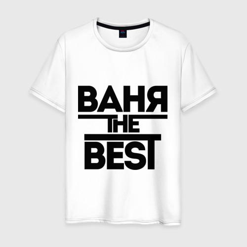Мужская футболка хлопок Ваня the best