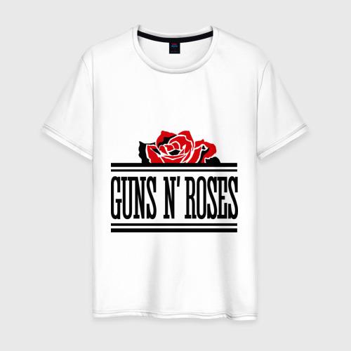 Мужская футболка хлопок Guns n roses red
