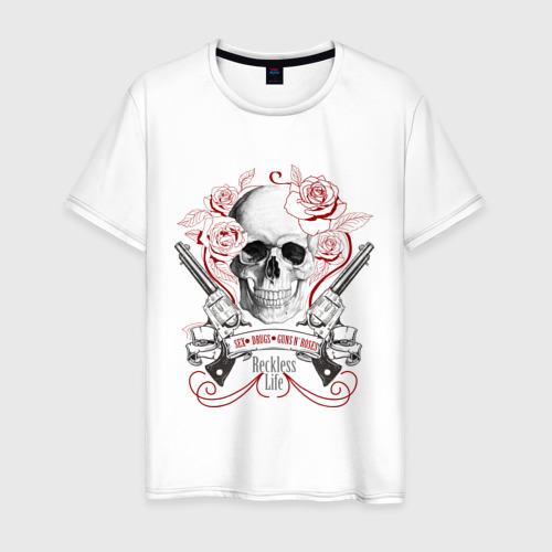 Мужская футболка хлопок Sex Drugs Guns n roses
