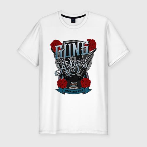 Мужская футболка хлопок Slim Guns n roses illustration