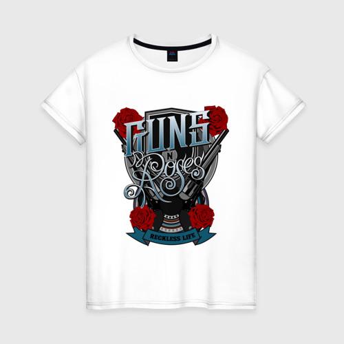 Женская футболка хлопок Guns n roses illustration