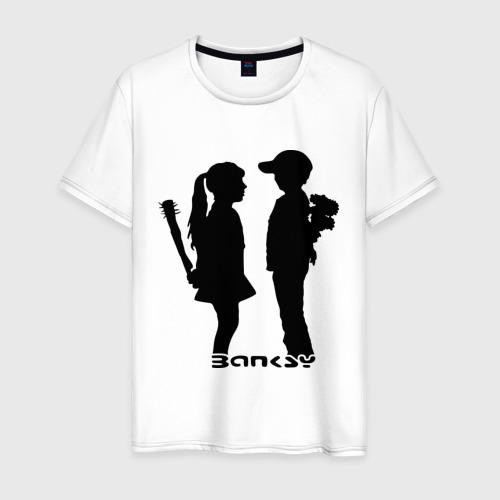 Мужская футболка хлопок Девочка и мальчик