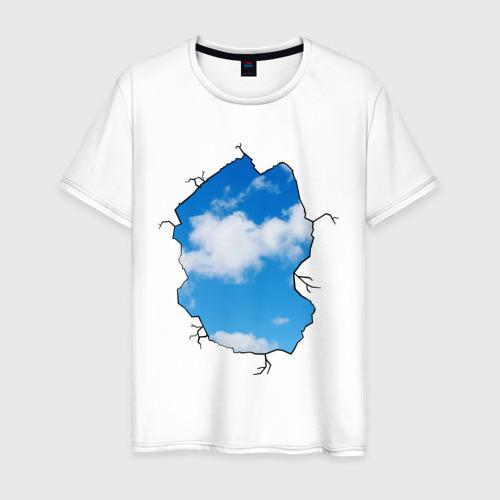 Мужская футболка хлопок Небо. Бэнкси