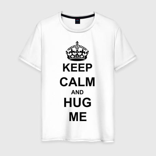 Мужская футболка хлопок Keep calm and hug mе