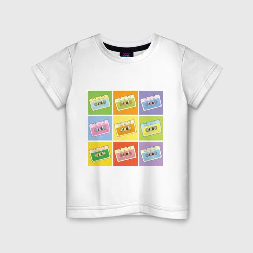 Детская футболка хлопок Кассеты поп-арт
