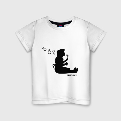 Детская футболка хлопок Bubble blower girl (Banksy)