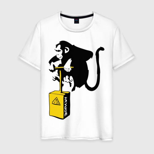 Мужская футболка хлопок TNT monkey (Banksy)