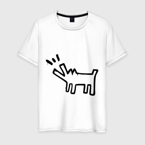 Мужская футболка хлопок Собака (Banksy)