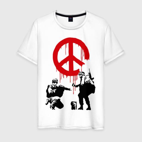 Мужская футболка хлопок Peace Banksy