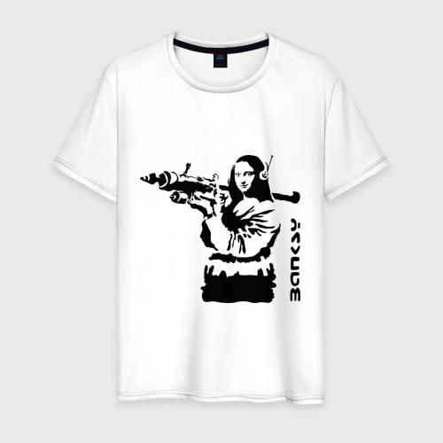 Мужская футболка хлопок Мона Лиза с базукой
