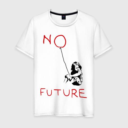 Мужская футболка хлопок No future Banksy