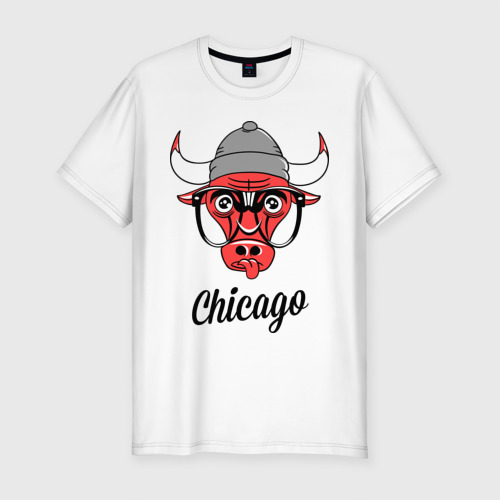 Мужская футболка хлопок Slim Chicago swag