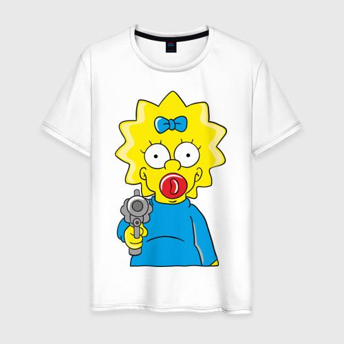 Мужская футболка хлопок Мэгги с револьвером