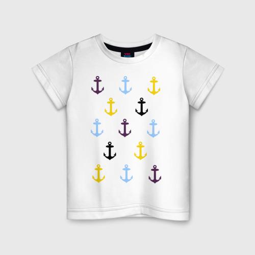 Детская футболка хлопок Anchors pattern