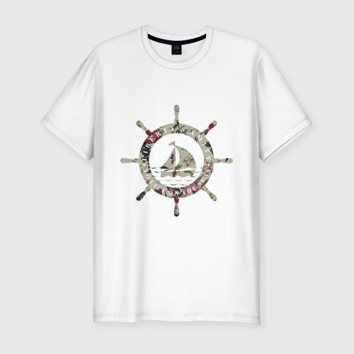 Мужская футболка хлопок Slim Flower Wheel