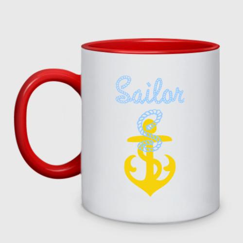 Кружка двухцветная Sailor