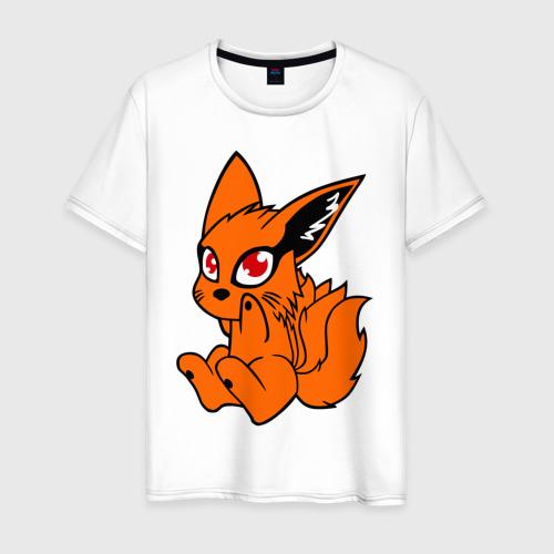 Мужская футболка хлопок Наруто: няшный Девятихвостый