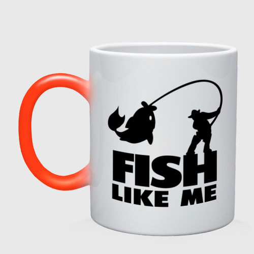 Кружка хамелеон Fish like me.